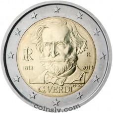 "2 Euro Italy 2013 ""200th anniversary of the birth of Giuseppe Verdi"""