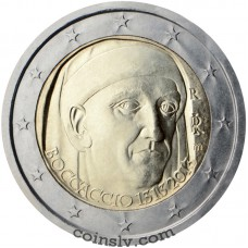 "2 Euro Italy 2013 ""700th Anniversary of the birth of Giovanni Boccacio"""
