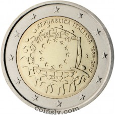 "2 euro Italy 2015 ""The 30th anniversary of the EU flag"""