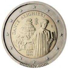 "2 Euro Italy 2015 ""The 750th anniversary of the birth of Dante Alighieri"""
