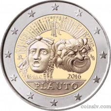 "2 Euro Italy 2016 ""2200. anniversary of the death of Tito Maccio Plautus"""