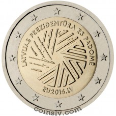 "2 Euro Latvia 2015 ""Latvian Presidency of the Council of the European Union"""