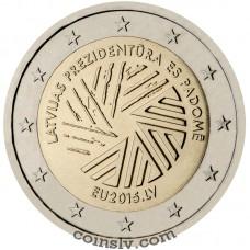 "2 euro Latvia 2015 ""Latvian Presidency of the Council of the European Union"""