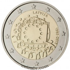 "2 Euro Latvia 2015 ""The 30th anniversary of the EU flag"""