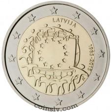 "2 Euro Latvia 2015 ""The 30th anniversary of the EU flag"""