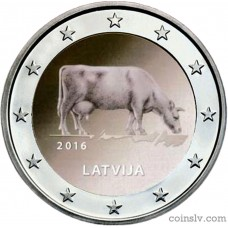 "2 Euro Latvia 2016 ""Latvian agricultural industry"""