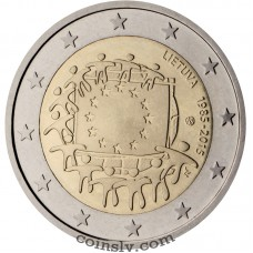 "2 Euro Lithuania 2015 ""The 30th anniversary of the EU flag"""