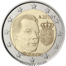 "2 euro Luxembourg 2010 ""Coat of Arms of the Grand Duke"""