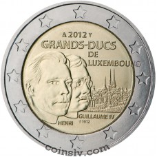 "2 euro Luxembourg 2012 ""The Grand-Duke Henri and the Grand-Duke Guillaume IV"""