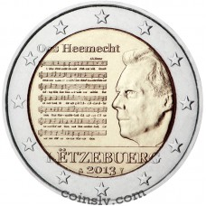 "2 Euro Luxembourg 2013 ""The National Anthem of the Grand Duchy of Luxembourg"""