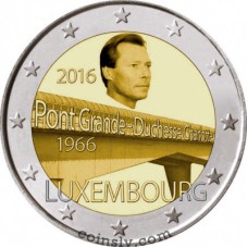 "2 Euro Luxembourg 2016 ""The 50th anniversary of the bridge Grand Duchess Charlotte"""