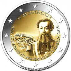 2 Euro Monaco 2016 - The 150th anniversary of the foundation of Monte Carlo by Charles III