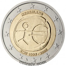 "2 euro Netherlands 2009 ""10 years of Economic and monetary union"""