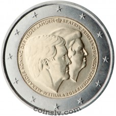 "2 Euro Netherlands 2014 ""The official farewell to the former Queen Beatrix"""