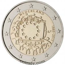 "2 euro Netherlands 2015 ""The 30th anniversary of the EU flag"""