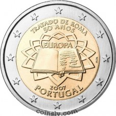 "2 euro Portugal 2007 ""50th anniversary of the signing of the Treaty of Rome"""