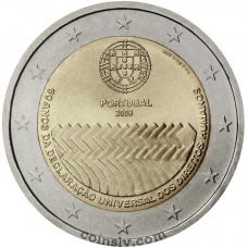 "2 euro Portugal 2008 ""Universal Declaration of Human Rights"""