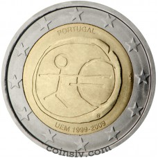 "2 euro Portugal 2009 ""10 years of Economic and monetary union"""