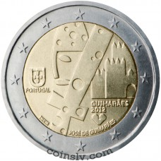 "2 euro Portugal 2012 ""Guimesarã, the European Capital of Culture 2012"""