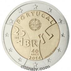 """2 Euro Portugal 2014 """"40th anniversary of the 25th April Revolution"""""""