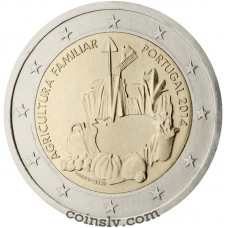 "2 euro Portugal 2014 ""The International Year of Family Farming"""
