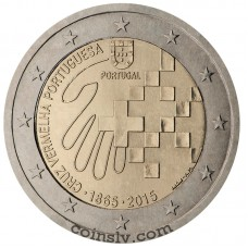 "2 Euro Portugal 2015 ""150 Years of the Portuguese Red Cross"""