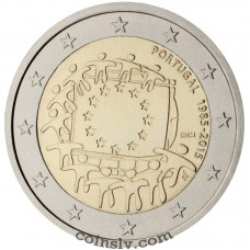 "2 Euro Portugal 2015 ""The 30th anniversary of the EU flag"""
