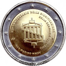 "2 Euro San Marino 2015 ""25 years of German Unity"""