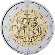 "2 Euro Slovakia 2013 ""Constantine and Methodius to Great Moravia"""