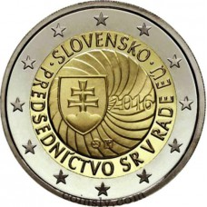 "2 Euro Slovakia 2016 ""The first Slovak Presidency of the Council of the European Union"""