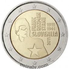 """2 euro Slovenia 2011 """"National hero Franc Rozman-Stane"""""""