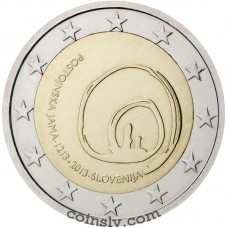 "2 Euro Slovenia 2013 ""800th anniversary of visits to Postojna Cave"""