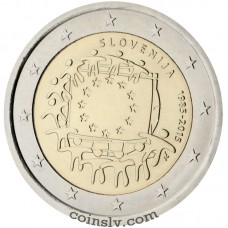 "2 Euro Slovenia 2015 ""The 30th anniversary of the EU flag"""