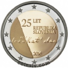 "2 Euro Slovenia 2016 ""The 25th anniversary of independence of the Republic of Slovenia"""
