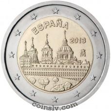 "2 euro Spain 2013 ""San Lorenzo del Escorial Monastery"""