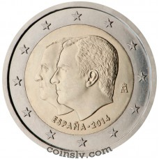 "2 Euro Spain 2014 ""Change of the Head of State"""