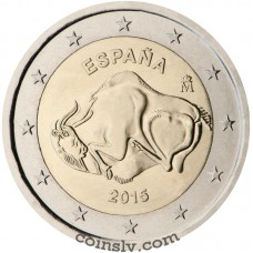 "2 Euro Spain 2015 ""Unesco's World Cultural and Natural Heritage Sites — Cave of Altamira"""