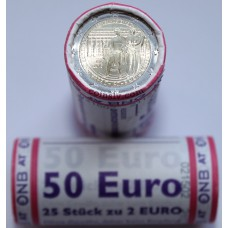 "Austria 2016 roll 2 euro ""200 years of Oesterreichische Nationalbank"" (X25 coins)"