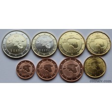Estonia euro set 2011 UNC (8 coins)