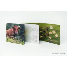 "Latvia 2016 BU official euro set ""Latvian agricultural industry"" (Cow) (9 coins)"
