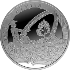"Latvia 5 euro 2014 ""Old Stenders"""