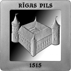 "Latvia 5 euro 2015 ""500 Years of the Riga Castle"""