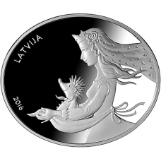 "Latvia 5 euro 2016 ""Fairy Tale Coin II. Hedgehog Coat"""