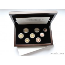 Latvia euro set 2014 PROOF (8 coins)
