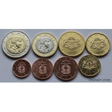 Latvia euro set 2014 UNC (8 coins)