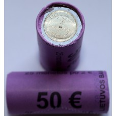 """Lithuania 2016 roll 2 euro """"The Baltic culture"""" (X25 coins)"""