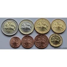 Lithuania euro set 2015 UNC (8 coins)
